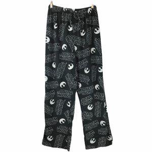 Star Wars Fleece Cozy Pajama Pants Button Fly M